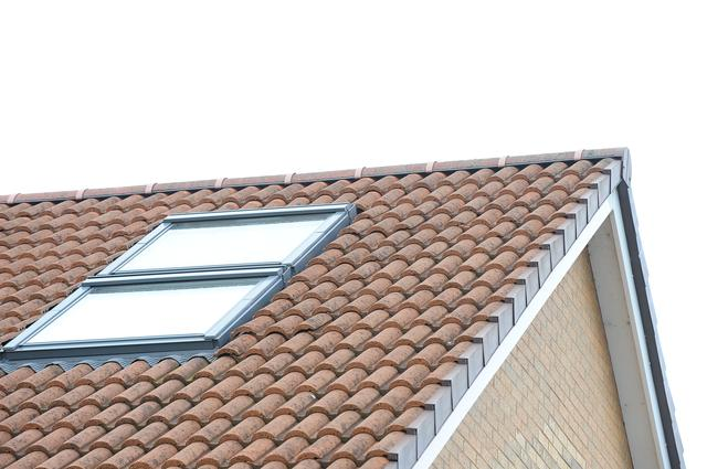pair of velux windows above each other in loft conversion in south yorkshire