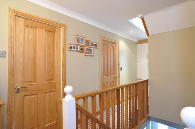 once a small landing its now opened up into a galleried landing for space for loft conversion staircase