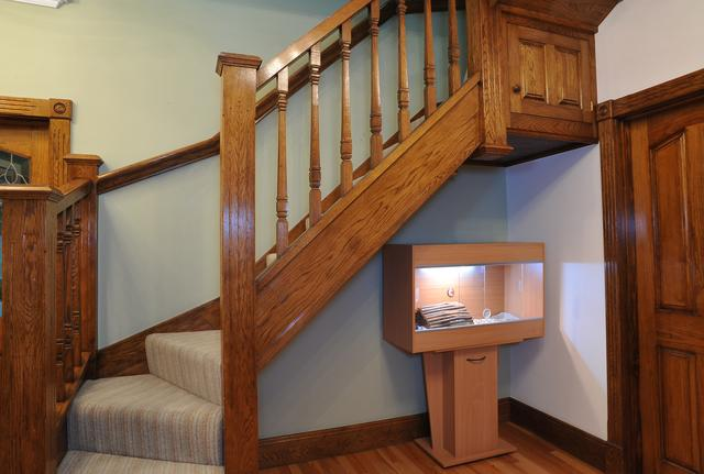 oak stairs with square spindles loft conversion leeds