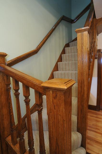 solid oak stairs with square oak spindles to loft conversion